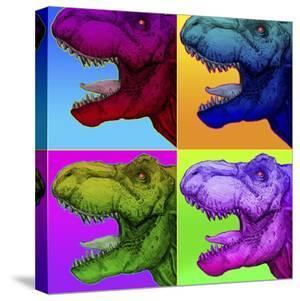 Pop Art Dinosaurs 1 by Howie Green