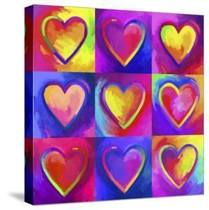 Pop Art Heart 2 by Howie Green