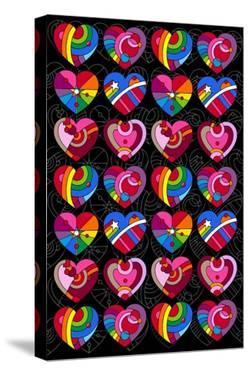 Pop Art Hearts by Howie Green