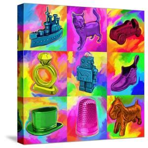Pop Art Monopoly Pieces by Howie Green