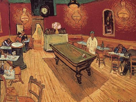 Giclee Painting: van Gogh's Van Gogh: Night Cafe, 1888, 16x12in.