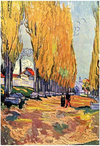 Poster: Vincent Van Gogh Les Alyscamps Art Print Poster, 19x13in.