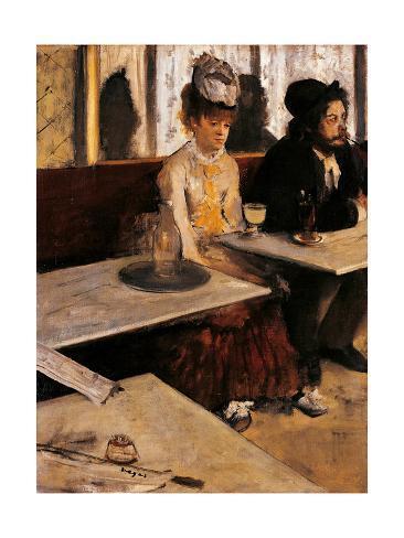 Art Print: Degas' Absinthe Drinker, 16x12in.