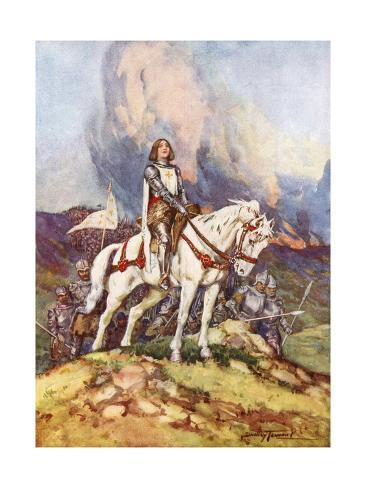 Giclee Painting: Tennant's Joan of Arc, the Country Girl Who Led a Kin
