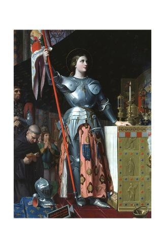 Giclee Painting: Ingres' Joan of Arc at the Coronation of Charles VII