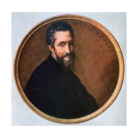 Giclee Painting: Michelangelo Buonarroti, Italian Renaissance Artist,