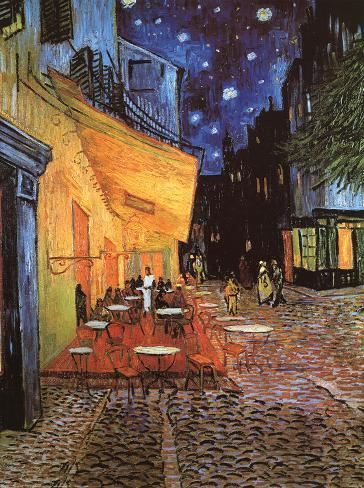 Poster: van Gogh's Vincent Van Gogh- The Night Cafe, c. 1888, 18x24in.