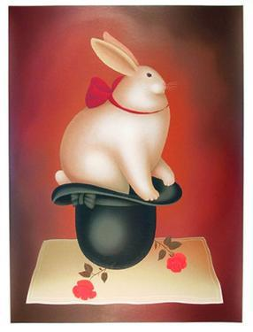 Rabbit in Hat by Igor Galanin