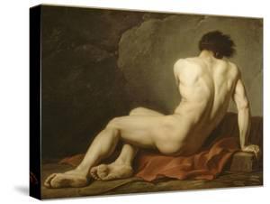 Académie d'Homme dite Patrocle by Jacques-Louis David