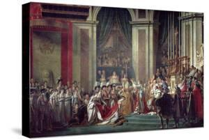 Consecration of the Emperor Napoleon and Coronation of Empress Josephine, 2nd December 1804, 1806-7 by Jacques-Louis David