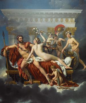 Mars Désarmé par Vénus by Jacques-Louis David