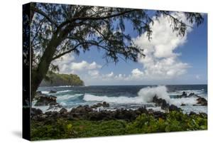 Waves Crashing Upon Rocks, Laupahoehoe Park, Hawaii, USA by Jaynes Gallery