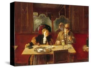 Au café, l'absinthe by Jean Béraud