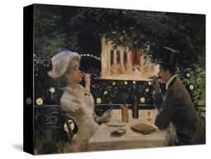"Dinner at ""The Ambassadors"" by Jean Béraud"