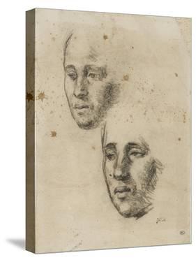 T? de femme avec reprise, ?de pour le visage de la m? de paysan greffant un arbre (1855) by Jean-François Millet