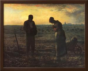 The Evening Prayer (L'Angélus), c.1859 by Jean-François Millet