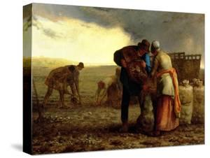 The Potato Harvest, 1855 by Jean-François Millet