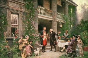 George Washington (1732-99) at Bartram's Garden, 1774 by Jean Leon Gerome Ferris