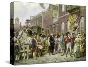 Washington's Inauguration at Philadelphia, 1793 by Jean Leon Gerome Ferris