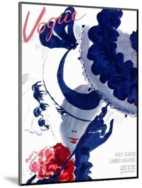 Vogue Cover - June 1935 - Paris Parasol by Jean Pagès