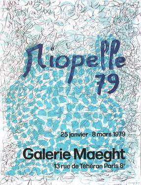 Expo 79 - Galerie Maeght by Jean-Paul Riopelle