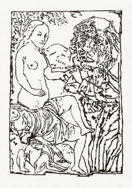 Le peintre et son modèle by Jean-pierre Pincemin