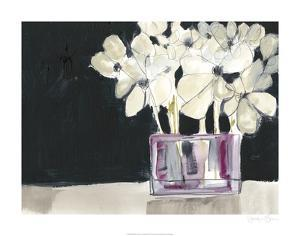 White Flowers in Fuchsia I by Jennifer Goldberger