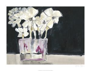 White Flowers in Fuchsia II by Jennifer Goldberger