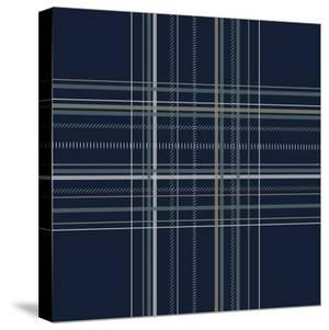Dashed Line Dark Blue by Jennifer Nilsson