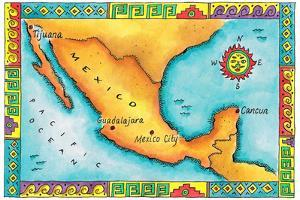 Maps Of Mexico Posters And Prints At Artcom - Map of mexico