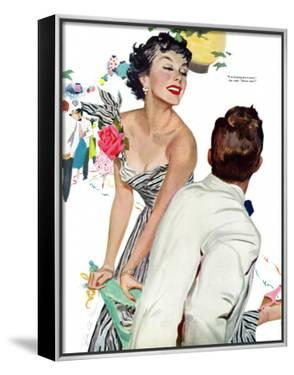 """I Want A Man  - Saturday Evening Post """"Leading Ladies"""", April 15, 1950 pg.40 by Joe deMers"""