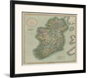 Maps posters and prints at art vintage map of irelandjohn cary gumiabroncs Image collections