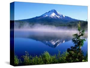 Trilium Lake with Mt. Hood in Background, Mt. Hood, Oregon by John Elk III