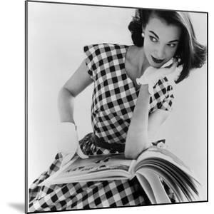 Helen Bunney in a Dress by Blanes, 1957 by John French