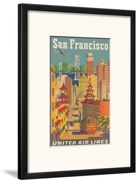 United Airlines San Francisco c.1950 by Joseph Feher