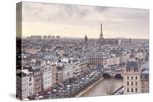 The City of Paris as Seen from Notre Dame Cathedral, Paris, France, Europe by Julian Elliott