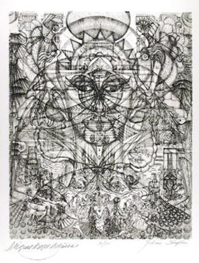 Miguel Asturias by Julian Seraphim
