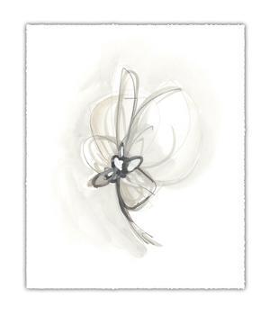 Neutral Floral Gesture II by June Erica Vess