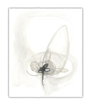 Neutral Floral Gesture IV by June Erica Vess