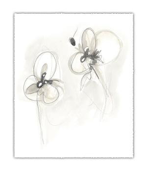 Neutral Floral Gesture VIII by June Erica Vess