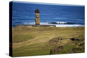Ahu Tahai, A Moai Statue On Easter Island, Chile, Chilean Territory, Volcanic Island In Polynesia by Karine Aigner