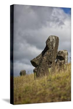 Moai Statue, Quarry On Easter Island, Chile, Remote Volcanic Island In Polynesia by Karine Aigner