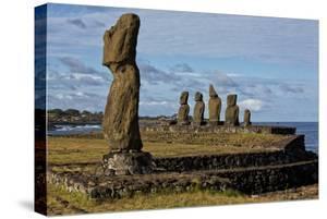 Moai Statues At Ahu Tahai On Easter Island, Chile by Karine Aigner