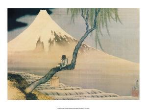 Boy Viewing Mount Fuji by Katsushika Hokusai
