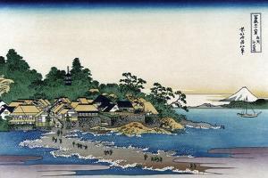 Enoshima in Sagami Province by Katsushika Hokusai
