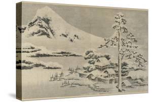 Seaside Village in Snow, 1814 by Katsushika Hokusai