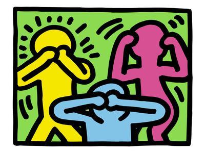 List of Synonyms and Antonyms of the Word: keith haring template