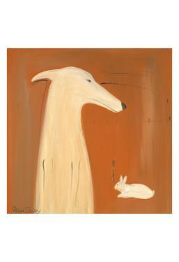 Greyhound And Rabbit by Ken Bailey