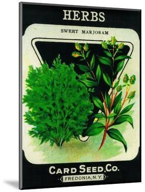 Herbs Seed Packet by Lantern Press