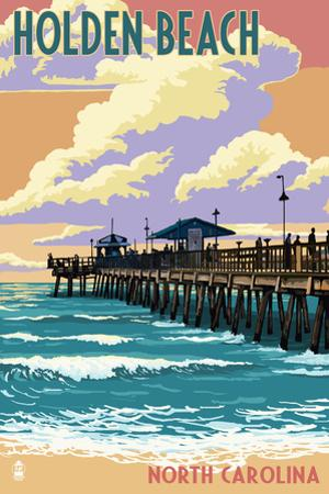Beach scenes posters and prints at for Holden beach fishing pier